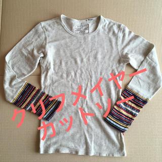 クリフメイヤー(KRIFF MAYER)のクリフメイヤー カットソー Tシャツ グレー 灰色 柄 ワッフル メンズ リブ(Tシャツ/カットソー(七分/長袖))