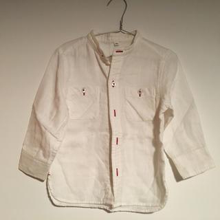 ムジルシリョウヒン(MUJI (無印良品))のスタンドカラーシャツ(ブラウス)
