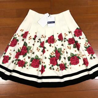 新品未使用薔薇柄スカート エムズグレイシー
