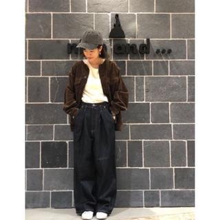 ニコアンド(niko and...)の★新品未使用★クルーハギハギリボンジャケット(ブラウン)(ノーカラージャケット)