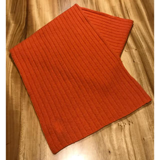 ギャップ(GAP)の【美品】GAP ラムウール 100% マフラー オレンジ(マフラー)