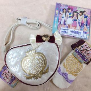シマムラ(しまむら)のマジマジョピュアーズ ショルダーバッグ&靴下&CD 3点セット(キャラクターグッズ)