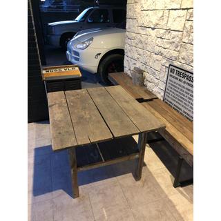 アンティーク 男前テーブル 什器 作業台 インダストリアル(コーヒーテーブル/サイドテーブル)