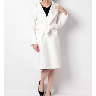パウダーシュガー(POWDER SUGAR)の新品♡定価18144円 フード付き コート♡ホワイトカラー Mサイズ(ロングコート)