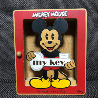 ディズニー(Disney)の【激レア】ディズニー ミッキー 木製キーボックス(小物入れ)