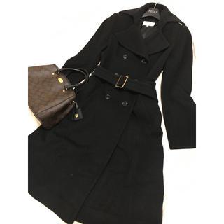 エムプルミエ(M-premier)の美品 エムプルミエ カシミヤ コート ブラック 黒(ロングコート)