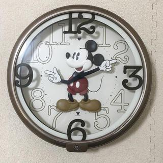 ディズニー(Disney)のミッキー 掛け時計 美品(掛時計/柱時計)