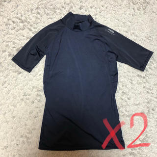 ティゴラ(TIGORA)のtigora アンダーシャツ 150 ネイビー 2枚セット(ウェア)
