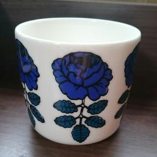 マリメッコ(marimekko)のマリメッコ ラテマグ ネイビー ダークブラウン ヴィヒキルース(グラス/カップ)