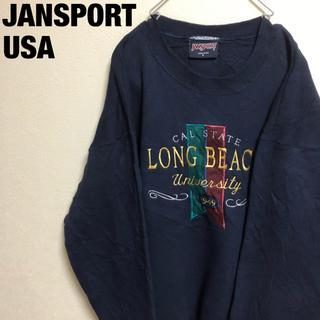 ジャンスポーツ(JANSPORT)の古着 USA JANSPORT スウェット トレーナー(スウェット)