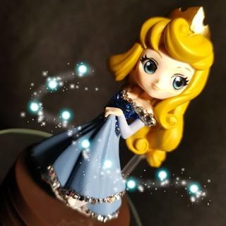 ディズニー(Disney)のQposket petit オーロラ姫★スワロフスキークリスタルデコレーション★(アニメ/ゲーム)