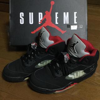 Supreme x AIR JORDAN 5 ブラック US9