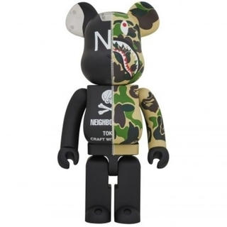 A BATHING APE - 国内正規品 ape x neighborhood be@rbrick 1000%