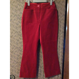 エスカーダ(ESCADA)のESCADA エスカーダ 赤 レッド 上質 ベロア パンツ(カジュアルパンツ)
