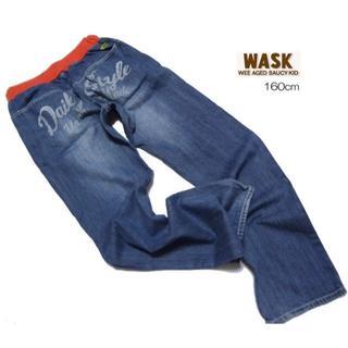 WASK - ■wask/ワスク■ ジュニア 160cm 総リブゴムデニムジーンズ