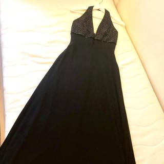 エメ(AIMER)の新品LAUNDRY by SHELLI SEGALホルターネックブラックドレス(ロングドレス)