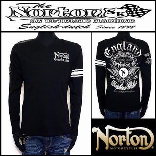 ノートン(Norton)のNorton ノートン ウイングVネックロンT 長袖シャツ  L 未使用 訳あり(Tシャツ/カットソー(七分/長袖))