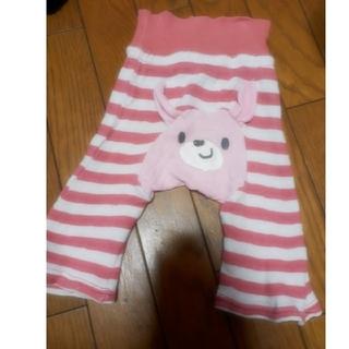 西松屋 - セール☆腹巻きパンツ☆バックにウサギ付きピンクボーダーパンツ(60~70)