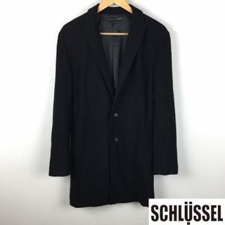 シュリセル(SCHLUSSEL)の美品 シュリセル ステンカラーコート ブラック サイズ3(ステンカラーコート)