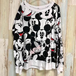ディズニー(Disney)の【送料込み】【フォロー割】アメリカ古着 ミッキー リバーシブル ディズニー(Tシャツ/カットソー(七分/長袖))