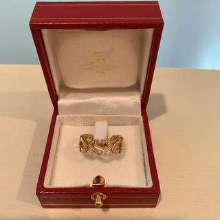 カルティエ(Cartier)のCartier Cハートリング 指輪 ダイヤ k18YG(リング(指輪))