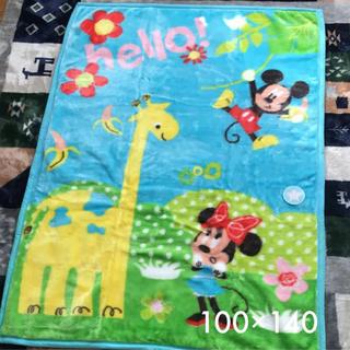 ディズニー(Disney)のハーフケット ミッキー ミニー 100×140(毛布)