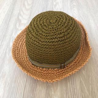 ハッカベビー(hakka baby)の新品タグ付き ハッカベビー hakka 男の子 S52 ブラウン 麦わら帽子(帽子)