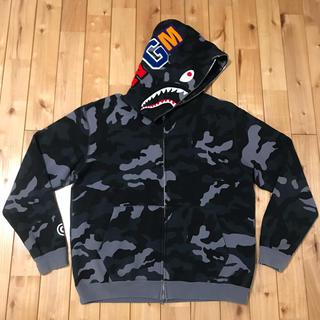 A BATHING APE - woodland camo シャークパーカー bape shark hoodie