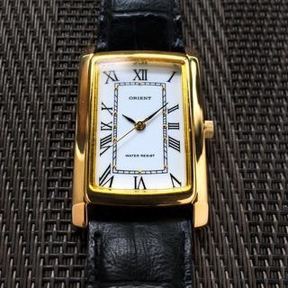 オリエント(ORIENT)の腕時計 オリエント レクタンギュラー 美品 ベルト付(腕時計(アナログ))