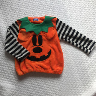 ディズニー(Disney)のミッキー ハロウィン カボチャ風パジャマ110cm(パジャマ)