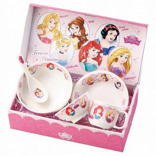 ディズニー(Disney)のディズニー プリンセス こども食器 ギフトセット 陶器(プレート/茶碗)