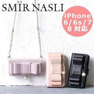サミールナスリ(SMIR NASLI)のbigリボン♡iPhone手帳型ケース(iPhoneケース)