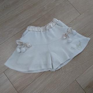 ジルスチュアートニューヨーク(JILLSTUART NEWYORK)のジルスチュアートニューヨーク 120 キュロット 白 美品(スカート)