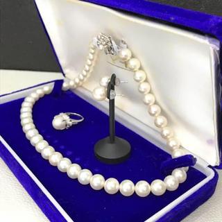 ジュエリーマキ(ジュエリーマキ)のジュエリーマキ 本真珠 Pt850 ピアス リング ネックレス 18-638(ネックレス)