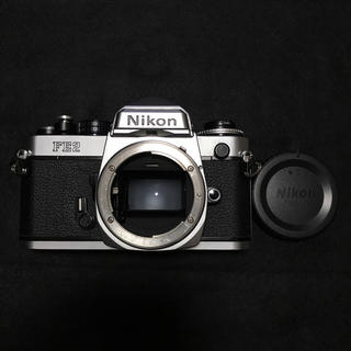 ニコン(Nikon)のNikonフィルムカメラ FE2 白 シルバー 整備済み(フィルムカメラ)