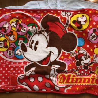 ディズニー(Disney)のミニーちゃんブランケット(おくるみ/ブランケット)
