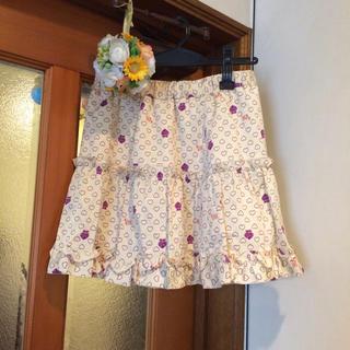 ドーリーガールバイアナスイ(DOLLY GIRL BY ANNA SUI)のドーリーガールバイアナスイ◯ハート柄とレースのリバーシブルスカートM150160(スカート)