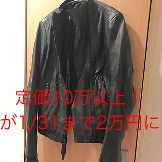 コレクションプリヴェ(collection PRIVEE?)の定価10万以上【未使用】barbara i gongini (ライダースジャケット)