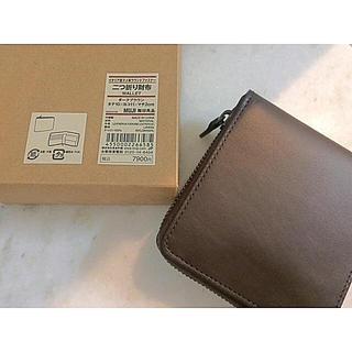 ムジルシリョウヒン(MUJI (無印良品))の【新品】MUJI イタリア産ヌメ革ラウンドファスナー財布 (財布)