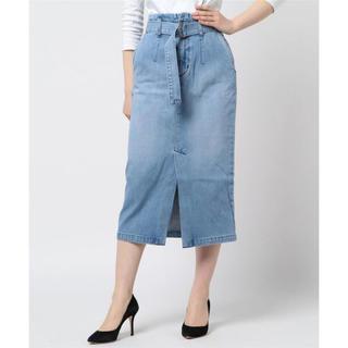 セポ(CEPO)のcepo デニムサッシュタイトスカート(ロングスカート)