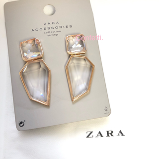 ZARA - ZARA クリスタルピアス ザラ ピアス 大ぶり 新品未使用
