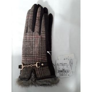 クーコ(COOCO)のクーコ ラビットファー付ジャージ手袋(手袋)