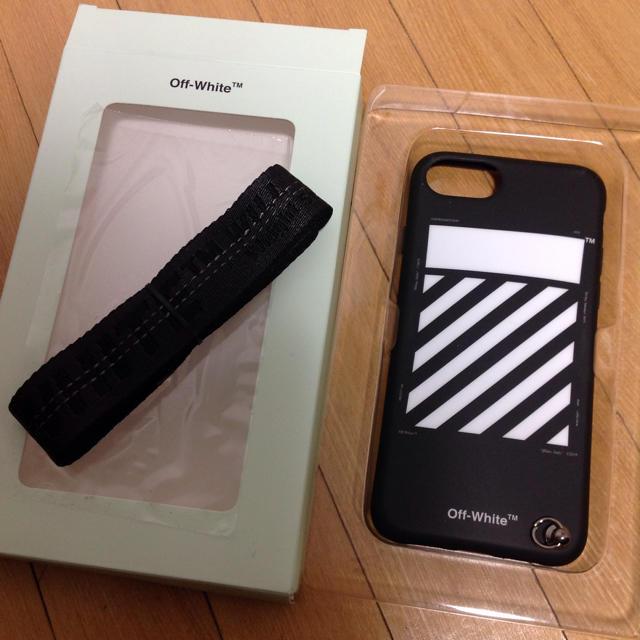 iphone7 ケース iface | OFF-WHITE - 【正規品】OFF-WHITE オフホワイト ストラップ付き iPhone 7/8の通販 by  ぺろん's shop|オフホワイトならラクマ