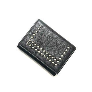 ジェイアンドエムデヴィッドソン(J&M DAVIDSON)の正規品 J&M Davidson 三つ折り財布 スタッズ ブラック(財布)