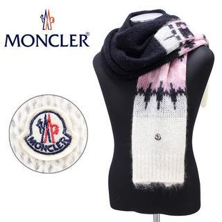 モンクレール(MONCLER)の【82】MONCLER ミックスカラー モヘヤ/モヘア混合 マフラー(マフラー)
