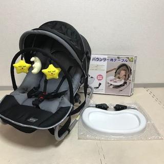 カトージ(KATOJI)の美品☆カトージ New York Baby バウンサー☆テーブル付(ベビーベッド)