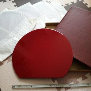 会席料理 半月盆漆器5枚セット(漆芸)