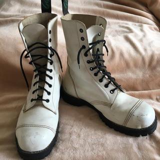 ゲッタグリップ(GETTA GRIP)のゲッタグリップ getta grip 10ホール 白 英国製 イングランド(ブーツ)