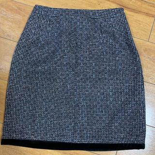 エムズグレイシー(M'S GRACY)のエムズグレイシー ツイードスカート(ひざ丈スカート)