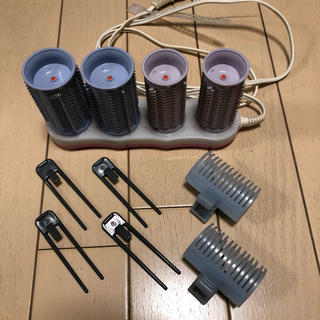 コイズミ(KOIZUMI)のコイズミ ホットカーラー 4本セット(カーラー(マジック/スポンジ))